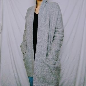 Light Grey Mid Length Cardigan